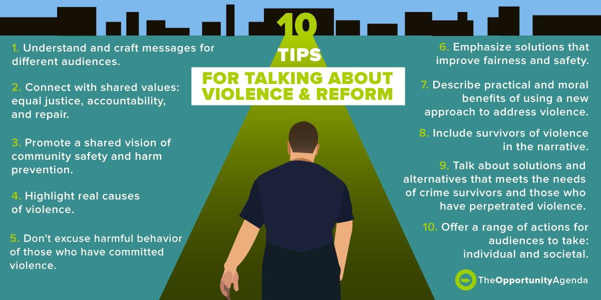 10 tips for talking about violence