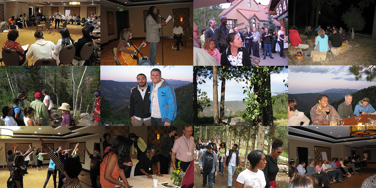 Photo collage of the 2009 Creative Change Retreat