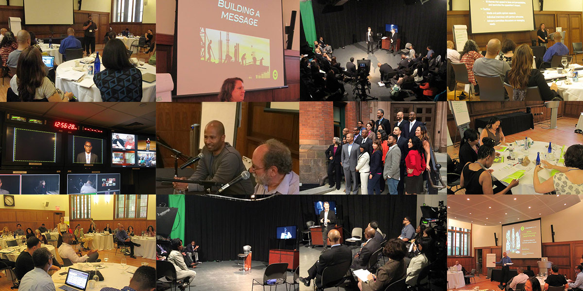 Photo collage of the 2014 Communications Institute