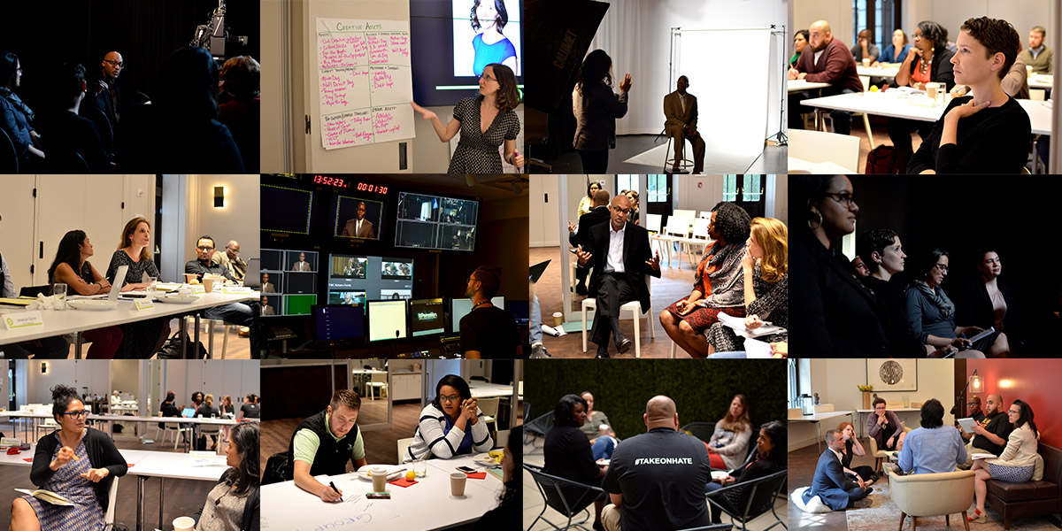 Collage of photos from the 2017 Communications Institute