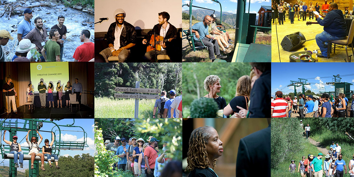 Photo Collage of the 2011 Creative Change Retreat