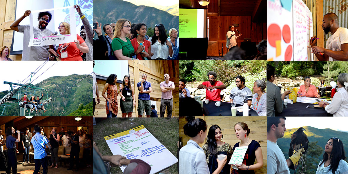 Photo Collage of the 2016 Creative Change Retreat