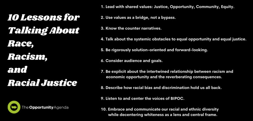 10 Lessons for Talking About Race, Racism, and Racial Justice